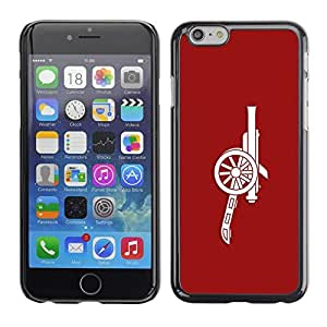 LECELL -- Funda protectora / Cubierta / Piel For Apple iPhone 6 Plus 5.5 -- Red Cannon --