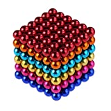 HENEX 216 Pieces Magnets Sculpture Building Blocks Toys for Intelligence - Office Toy & Stress Relief (Colorful-5mm)