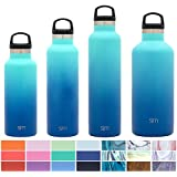 Simple Modern 24oz Ascent Water Bottle - Stainless Steel Hydro Swell Flask w/Handle Lid - Double Wall Vacuum Insulated Reusable Tumbler Small Kids Coffee Leakproof Thermos - Pacific Dream