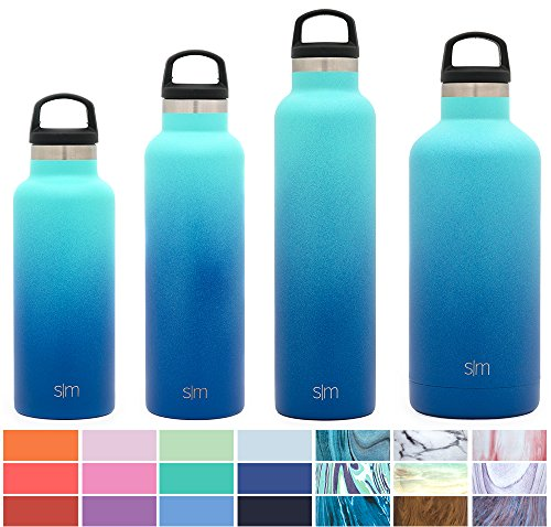 Simple Modern 17Oz Ascent Water Bottle   Stainless Steel Hydro Kids Flask W Handle Lid   Double Wall Vacuum Insulated Reusable Tumbler Small Metal Coffee Leakproof Thermos   Pacific Dream