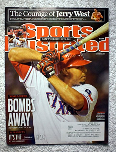 Nelson Cruz - Texas Rangers vs St. Louis Cardinals - 2011 World Series Preview - Sports Illustrated - October 24, 2011 - Alternate cover - SI