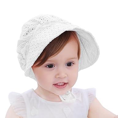 HBselect Chapeau Vintage Girl En Coton Chapeau Bébé Fille Chapeau De Plage  Ete 53690f7d103