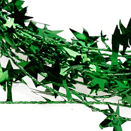 LOVIVER 23 Feet Glittering Star Shaped Tinsel Wire Garland Christmas Xmas Tree Decor Silver 19.5 Feet