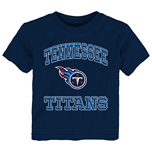 Outerstuff Nfl Toddler Gridiron Hero Short Sleeve Tee Navy 2T  Tennessee Titans