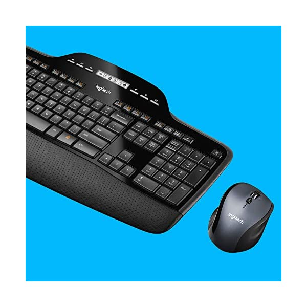 Logitech MK710 Wireless Keyboard and Mouse Combo — Includes Keyboard and Mouse, Stylish Design, Built-In LCD Status…