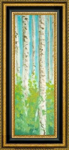"Vibrant Birchwood I by Walt Johnson - 10"" x 30"" Framed Premium Canvas Print"