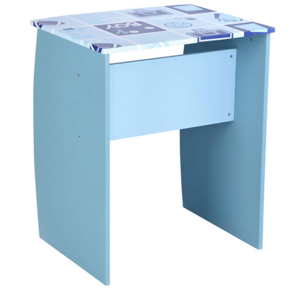 Bakaji Home Set Scrivania Libreria 3 Scomparti Tavolo Porta Pc Computer in Legno MDF Arredo Cameretta Bambini Azzurro
