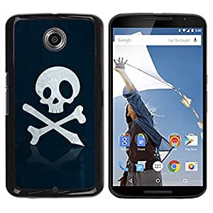 - Skull Pirate Sign Emblem Art Bones Slogan - - Monedero pared Design Premium cuero del tir???¡¯???€????€??????????&f