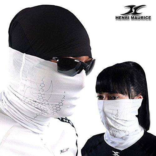 NECK HEADWEAR BANDANA COOL MULTI SCARF TUBE MASK CAP BIKE Mesh UV Protection AMM WHITE