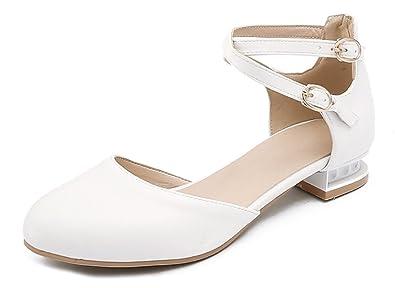 e049868bf84cef Aisun Femme Bride Cheville Petit Talon Nouveau Modèle Confort Escarpins:  Amazon.fr: Chaussures et Sacs