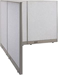 """GOF Freestanding L Shaped Office Partition, Large Fabric Room Divider Panel, 66""""D x 66""""W x 48""""H"""