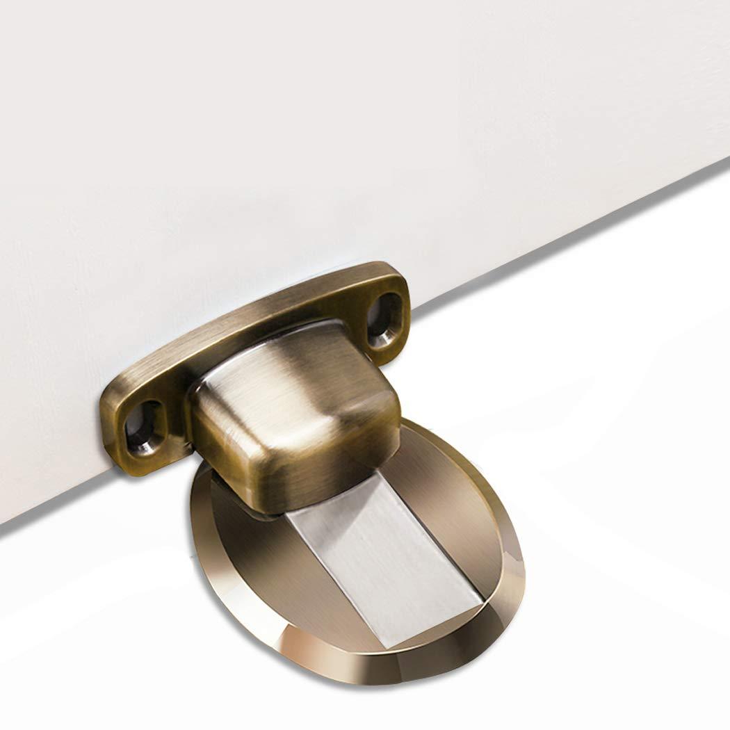 PHOEWON Strong Magnetic Door Stopper Metal Door Stop Heavy Duty Door Catch with 3M Self Adhesive Conceal Screws Floor Mounted Eriva
