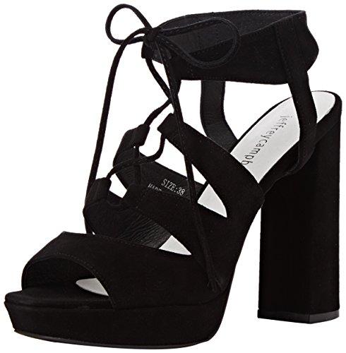 Ibex Femme Chaussures Bout à Suede Noir Campbell à Jeffrey Talons Ouvert 5qzUw