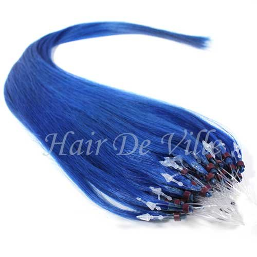 Amazon 25 strands 22 long micro loop ring beads i tip human amazon 25 strands 22 long micro loop ring beads i tip human hair extensions color blue 08g each strand crazy color beauty pmusecretfo Images