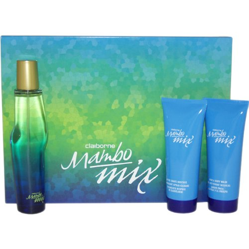 Mambo Mix By Liz Claiborne For Men. Set-cologne Spray 3.4 OZ & Hair & Body Wash 3.4 OZ & After Shave Soother 3.4 OZ