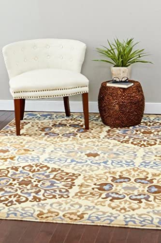 15007 Blue 7 10 x 10 6 Modern Abstract Area Rug Carpet