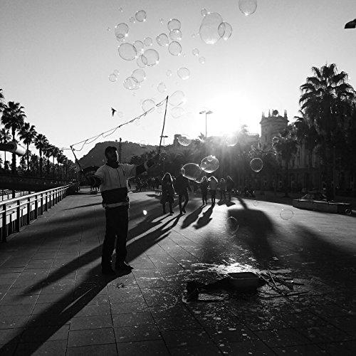 Bubble Print, Bubble Wall Art, Black And White, Barcelona, Spain, Street Photography, Travel Photography, Bubble Wall Decor, Bathroom Print by Amadeus Long