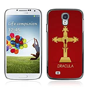 Colorful Printed Hard Protective Back Case Cover Shell Skin for Samsung Galaxy S4 IV (I9500 / I9505 / I9505G) / SGH-i337 ( Cool Dracula Vampire Cross )