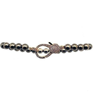 0674421e0692e Amazon.com: 7 LUXE Love Lock Bracelet in Vintage Gold: Jewelry
