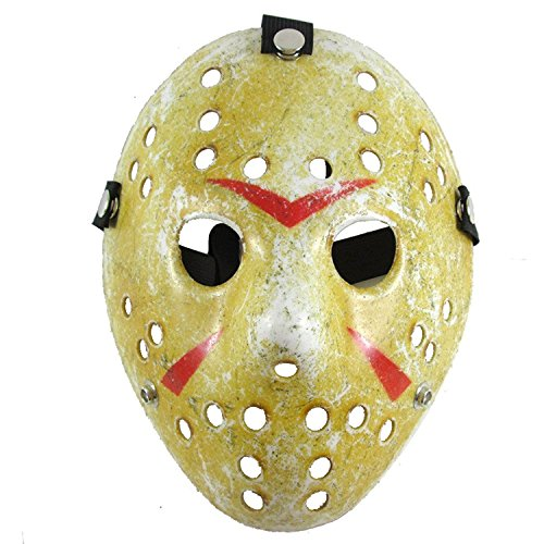 (Lovful Costume Mask Cosplay Halloween Mask Prop Party Mask,Yellow,One)