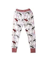Mother Daughter Newborn Baby Boy Girl Striped Deer Bottom Pants Leggings Trouser