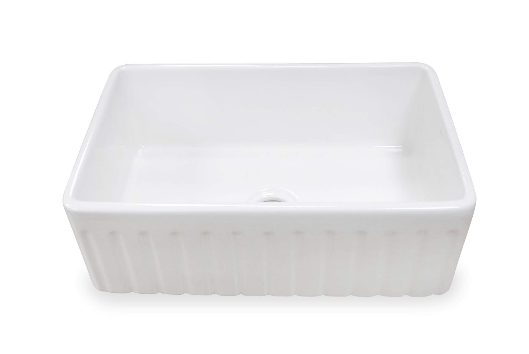 TRUE FIRECLAY Stria Reversible 30'' Apron Front Sink by MOCCOA, Farmhouse Kitchen Sink White … by MOCCOA (Image #3)