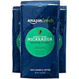 AmazonFresh Direct Trade Nicaragua Ground Coffee, Medium Roast, 12 Ounce (Pack of 3)