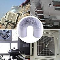 Manguera de ventilación para aire acondicionado PVC flexible manguera de salida de aire de salida de aire de aire de doble lámina de aluminio para aire acondicionado, secadora, campana extractora: Amazon.es: Bricolaje