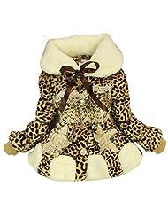 Baby Kids Toddler Girls Faux Fur Fleece Winter Warm Jacket Coat Outwear Outfits - leopard 12