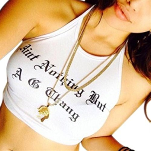 Women Vest,Haoricu 2017 New Womens' Fashion Girls Summer Beach Bra Vest Crop Top Tank Tops Cami Hot (M, White)