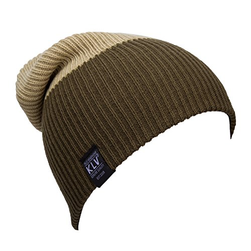 [YCHY Unisex Striped Knit Hat Winter Beanie Cap Sport Long Warm Hat (coffee&Khaki)] (Turban And Beard Costume)