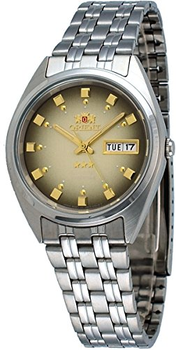 - Orient #FAB00009P Men's 3 Star Stainless Steel Brown Dial Self Wind Automatic Watch