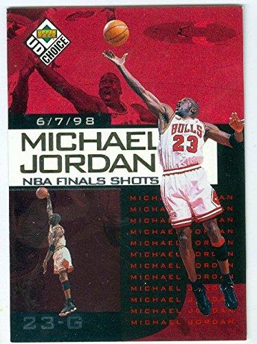 Michael Jordan basketball card (Chicago Bulls TGT16J) 1998 Upper Deck #3 Finals Shots