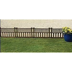 Gablemere Greenhurst Pack of Four Plastic Fence Panels in Bronze