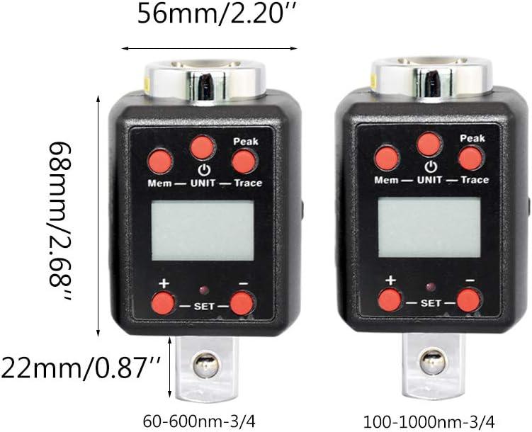 schwarz Mentin Drehmomentschl/üssel mit hohem Drehmoment Adapter 1.5-1000nm 1//4 3//8 1//2 3//4 Antrieb Mikro-Antrieb