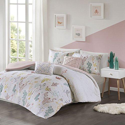 Urban Habitat Kids Desert Bloom 4 Pieces 100% Cotton Printed Comforter Set Bedding, Twin/Twin XL Size, Red Multi