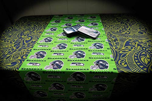 Tablecloth - Seahawks 49ers Raiders or YOUR Favorite Team NFL NBA MLB AHL- Special Orders ONLY - Choose YOUR favorite team & your size!- FREE SHIPPING