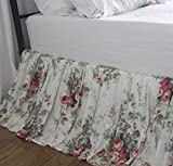 Shabby Vintage Floral Dust Ruffle Bed Skirt