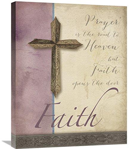 Global Gallery Elyse Deneige Words for Worship Faith Canvas Artwork, 22'' x 28'' by Global Gallery