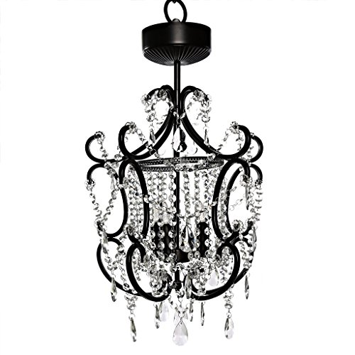 River of Goods 15581S Poetic Wanderlust by Tracy Porter Cristal Remote Control Cordless LED Chandelier with Cascading Crystals