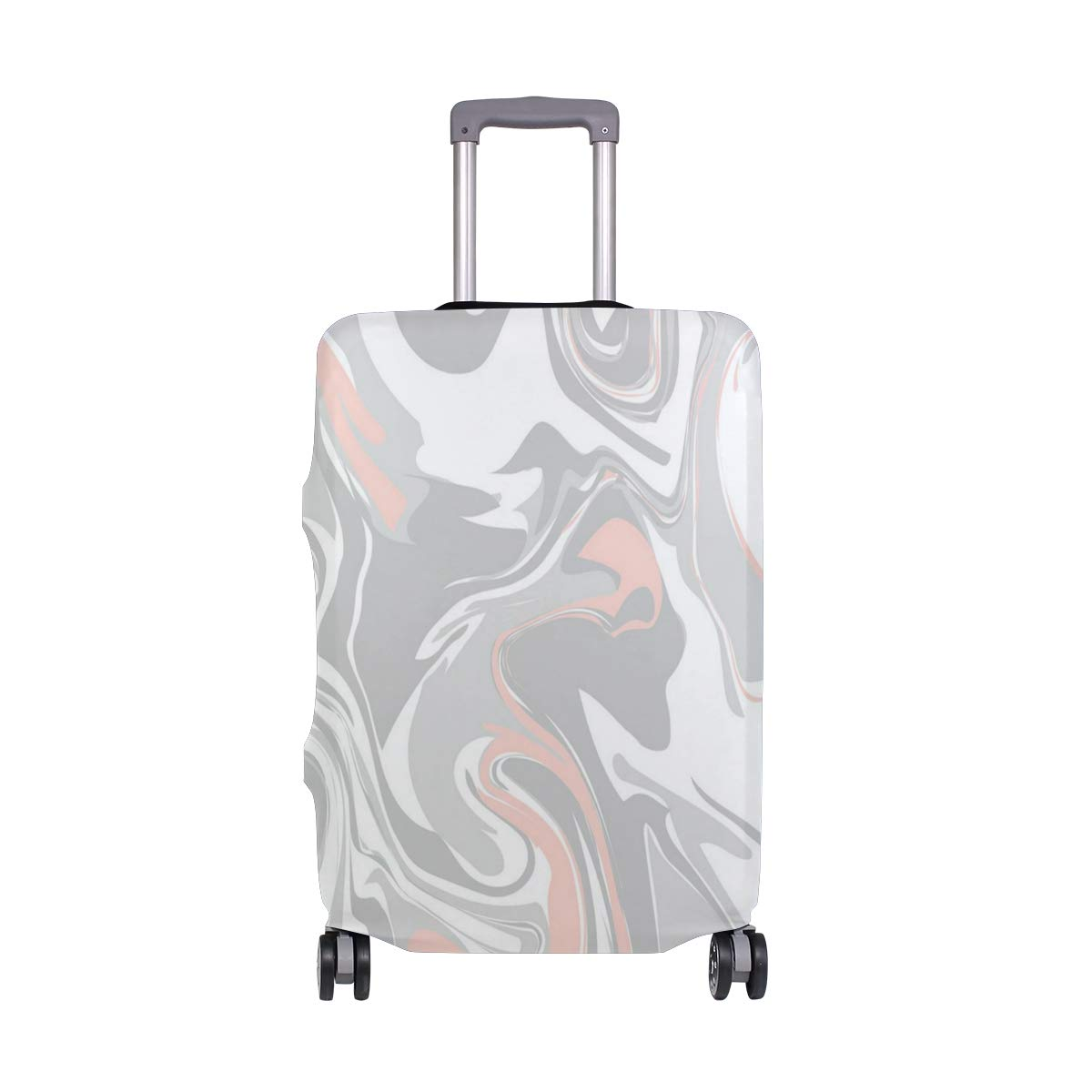 Gentle Complexion Marble Pattern Traveler Lightweight Rotating Luggage Cover Can Carry With You Can Expand Travel Bag Trolley Rolling Luggage Cover