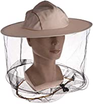 Professional Beekeeping Hat and Veil, Beekeeper Denim Hat with Anti Mosquito Bee Insect Net, Full Face Neck Wr