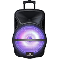 Audster AUD-R112 Professional Rechargeable 12 Inch 1900W Speaker with LED Lights and Kareoke