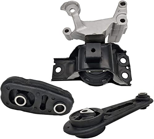 A4345 K0944 Fits 2007-2012 Nissan Sentra 2.0L w//Auto CVT Trans Motor Mount Set 3PCS A4348 A4318