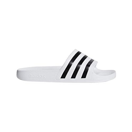 4496d88c0 adidas Unisex adilette Aqua Sport Sandals, Footwear White/Core  Black/Footwear White,