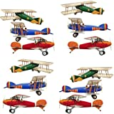 Primary Biplane Airplane Wall Sticker Decals Set