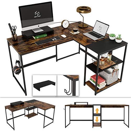 Nost Host 59 Inch L Shaped Desk