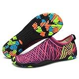Lxso Men Women Water Shoes Multifunctional Quick-Dry Aqua Shoes Lightweight Swim Shoes With Drainage Hole (7.5US-women/6US-men=EU/FR 38, Rose)