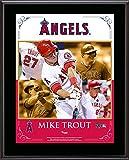 "Mike Trout Los Angeles Angels of Anaheim Sublimated 10.5"" x 13"" Composite Plaque - Fanatics Authentic Certified"