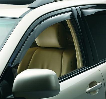 WeatherTech Custom Fit Front and Rear Side Window Deflectors for Toyota Sienna Dark Smoke